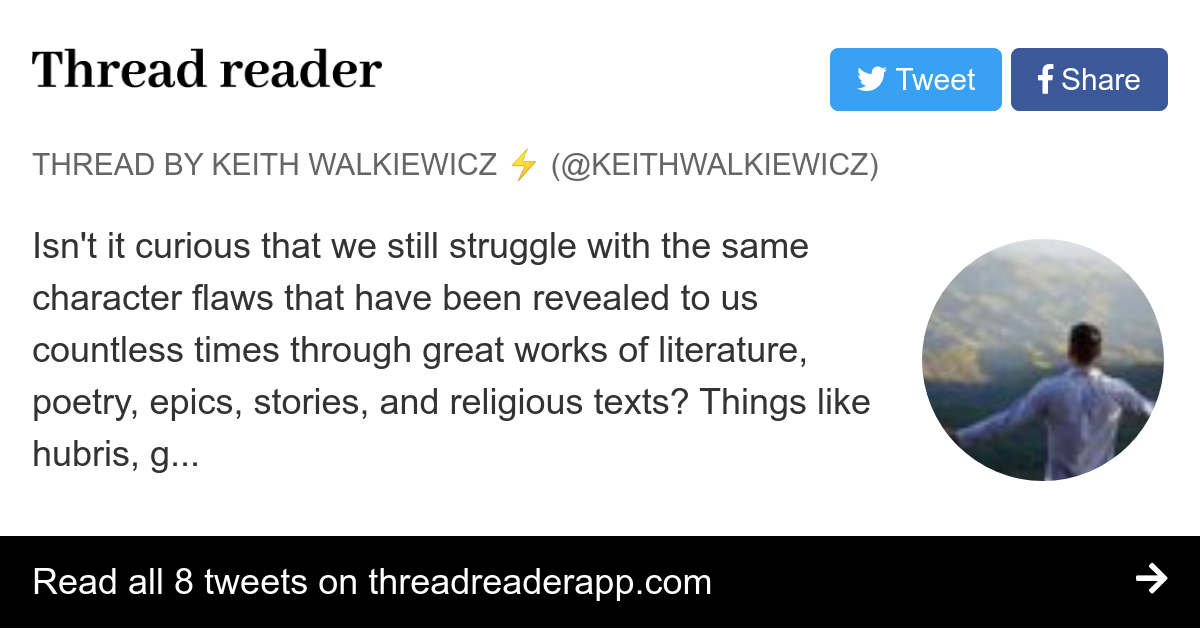 Thread By Keithwalkiewicz Isn T It Curious That We Still Struggle