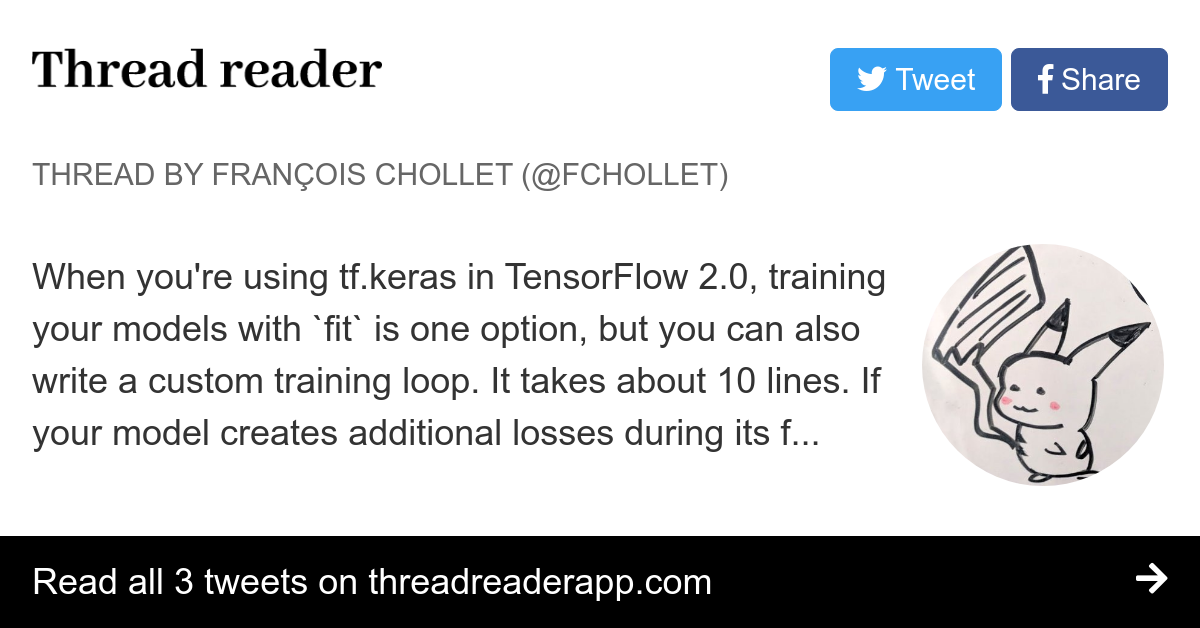 Thread by @fchollet: