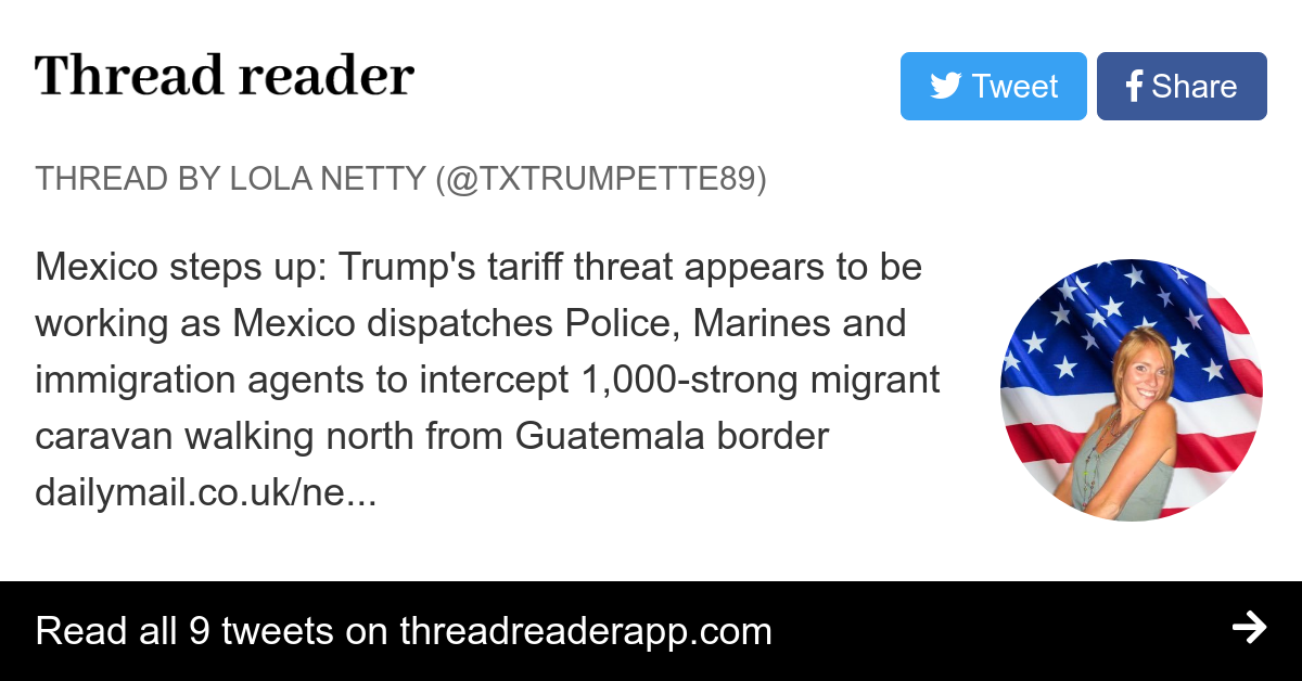 Thread by @TXTrumpette89: