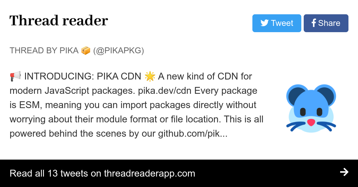Thread by @pikapkg: