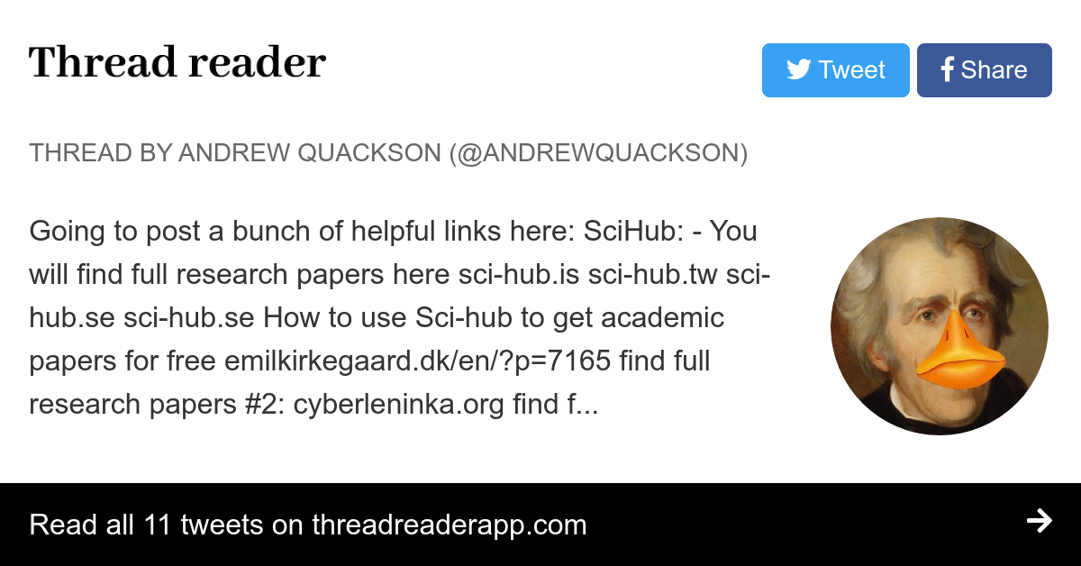 Thread by @AndrewQuackson: