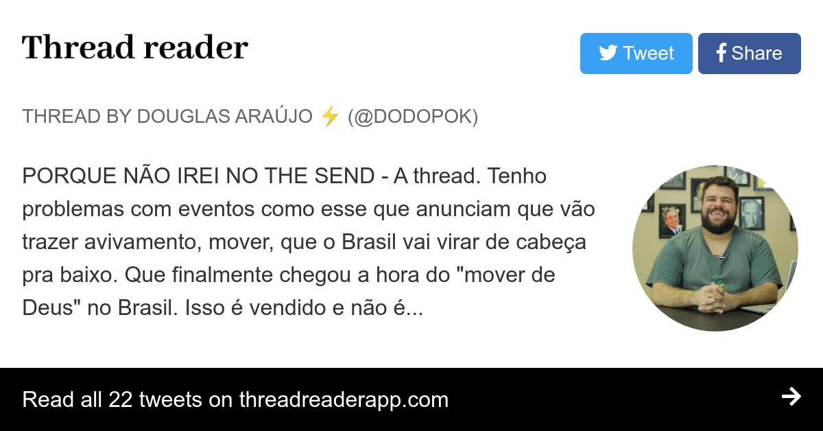Thread By Dodopok Porque Não Irei No The Send A Thread