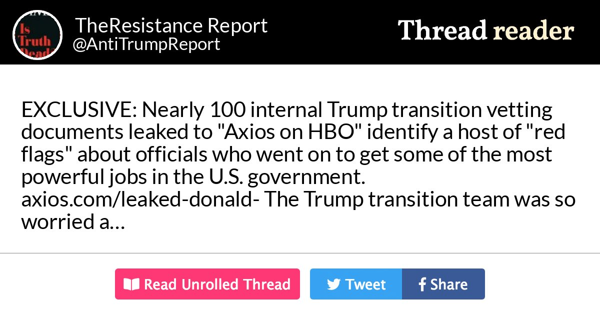 Thread by @AntiTrumpReport: