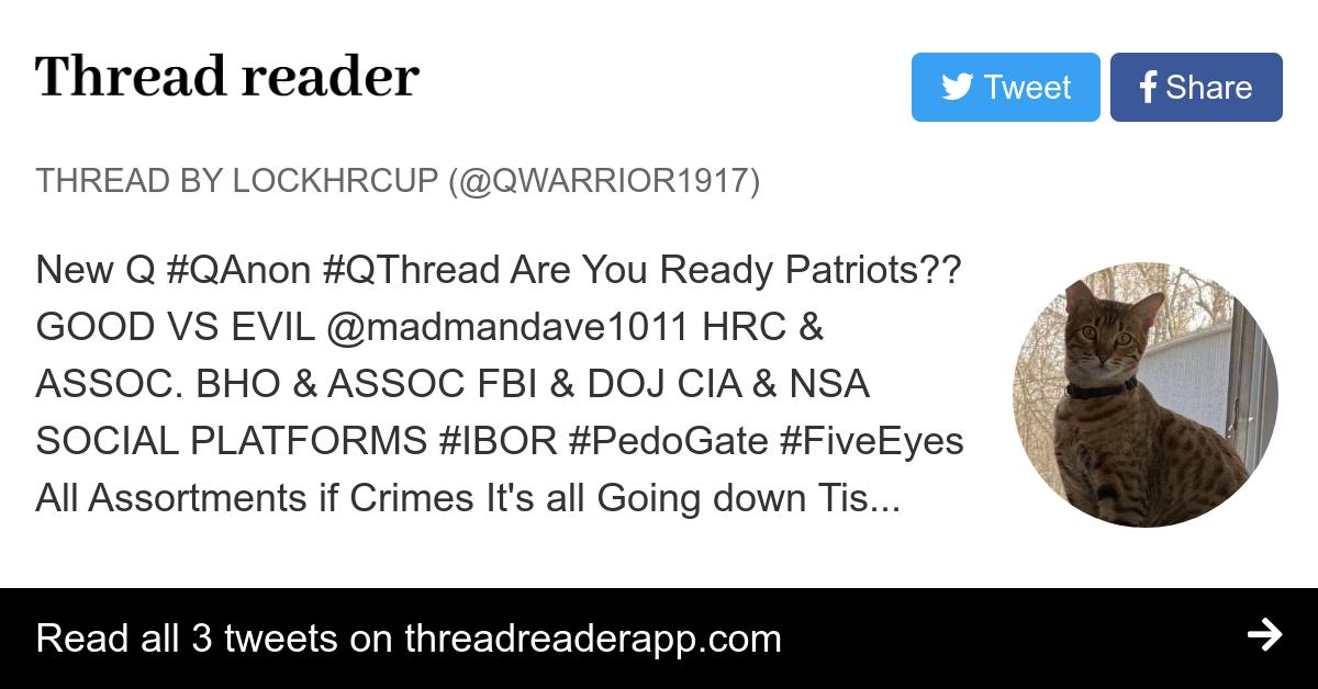 Thread by @QWarrior1917: