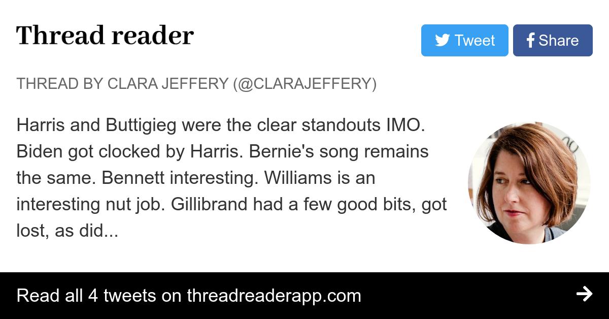 Thread by @ClaraJeffery: