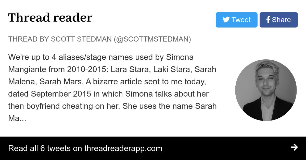 Thread by @ScottMStedman: