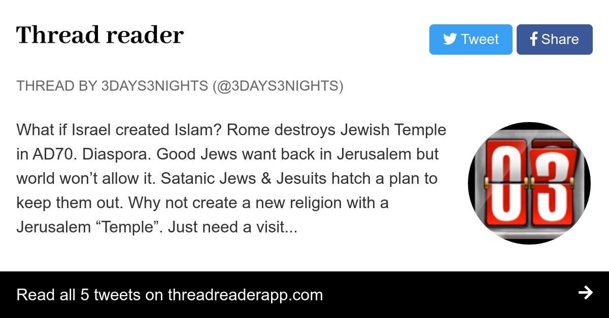 Thread by @3Days3Nights: