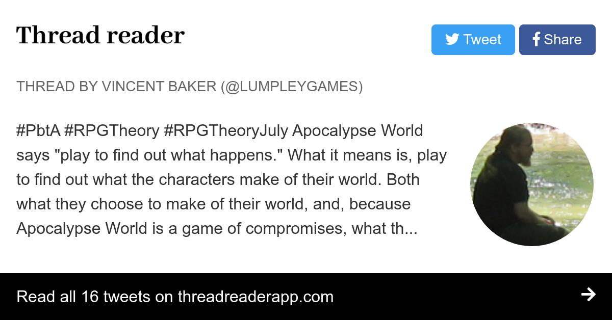 Thread by @lumpleygames:
