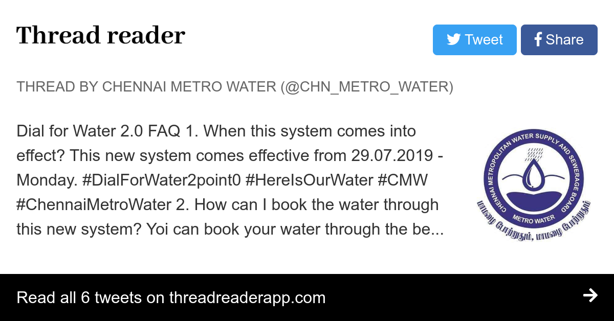 Thread by @CHN_Metro_Water:
