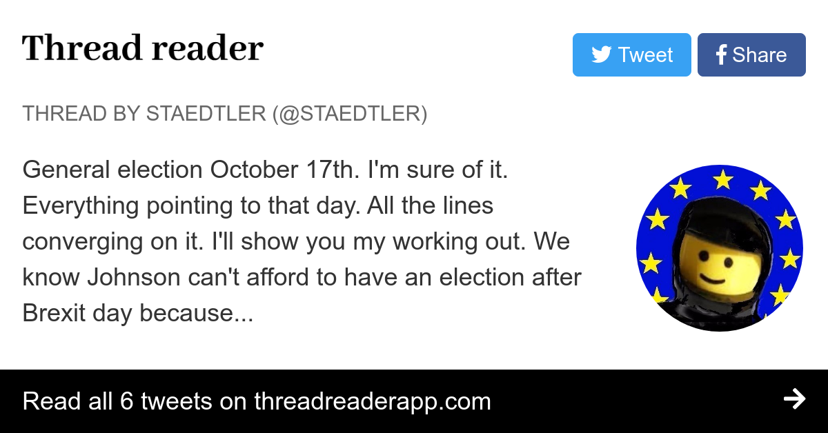 """Thread by @Staedtler: """"General election October 17th. I'm ..."""