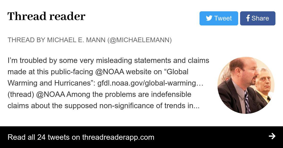 Thread by @MichaelEMann:
