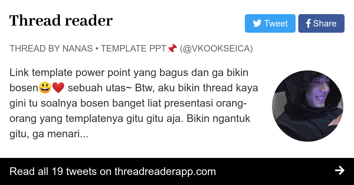 Thread By Vkookseica Link Template Power Point Yang Bagus