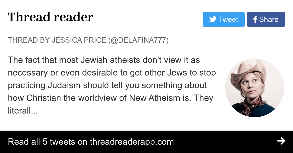 Thread by @Delafina777: The fact that most Jewish