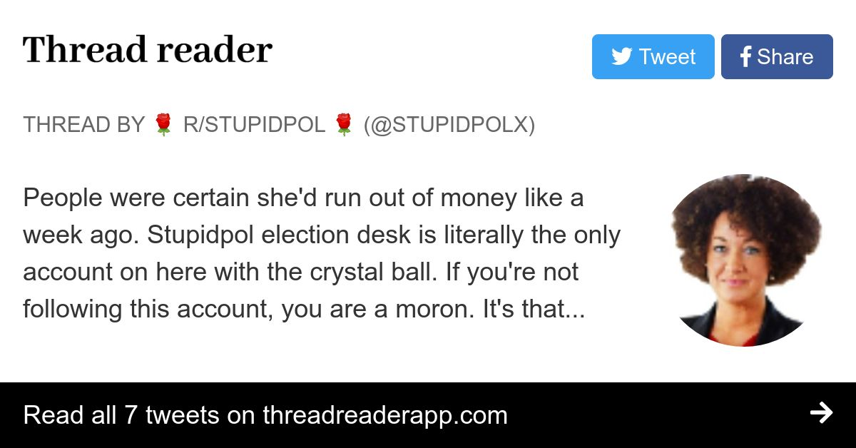 Thread By Stupidpolx People Were Certain She D Run Out Of Money Like A Week Ago Stupidpol Election Desk Is Literally The Only Account On Here With The Crystal B Poles are like a lousy stoner teenager copying a homework assignment from the west, except they are high as they do it so they end up caricaturing it. thread reader app