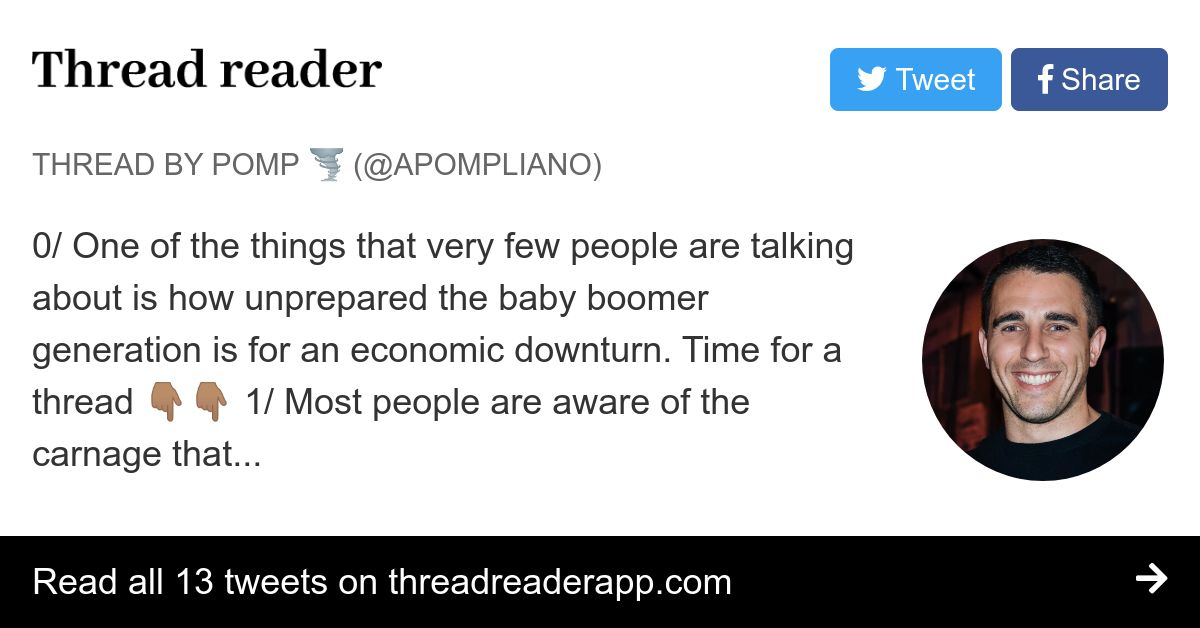 Thread by @APompliano: 0/ One of the things that very few ...