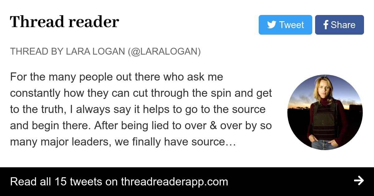 Thread by @laralogan: For the many people out there who
