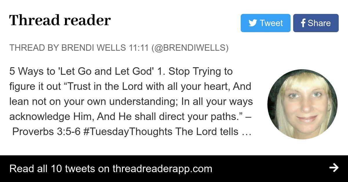 Thread by @BrendiWells on Thread Reader App