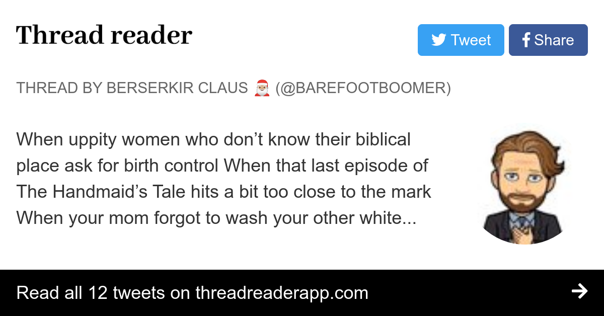 Thread by @barefootboomer:
