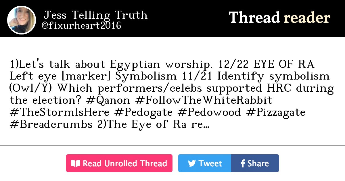 Thread By Fixurheart2016 1lets Talk About Egyptian Worship 12
