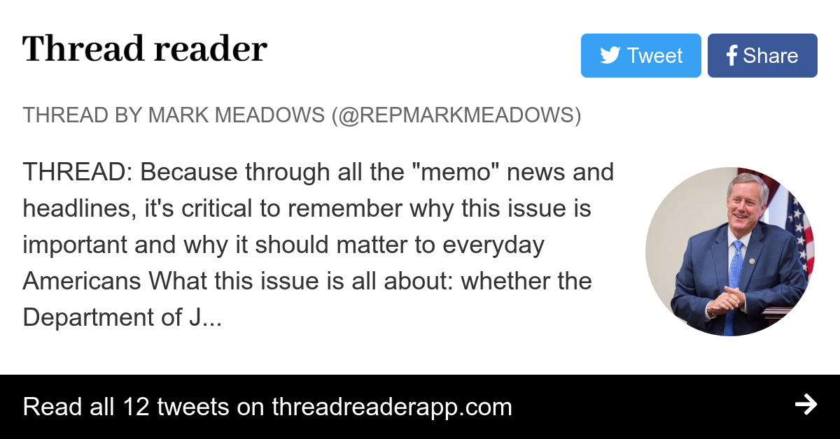 Thread by @RepMarkMeadows: