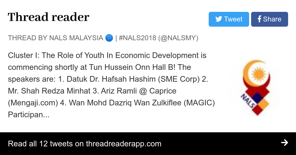 """Thread by @NALSMY: """"Cluster I: The Role of Youth In ..."""