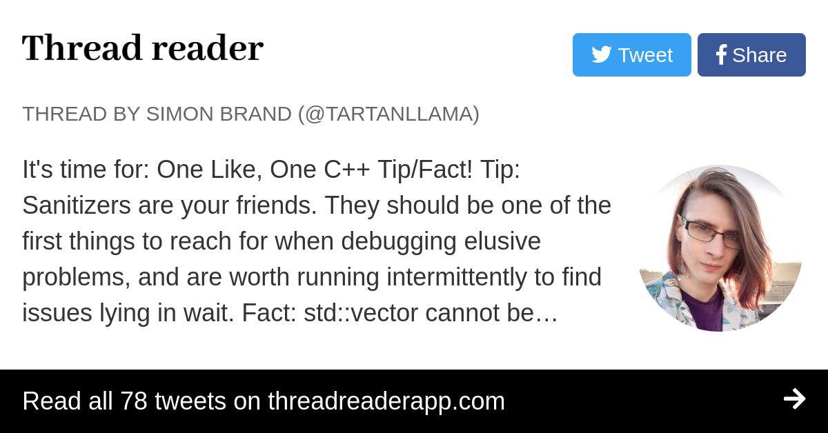 Thread by @TartanLlama: