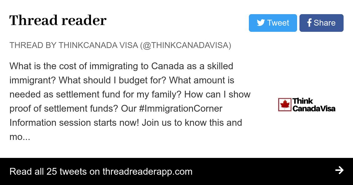 Thread by @ThinkCanadaVisa:
