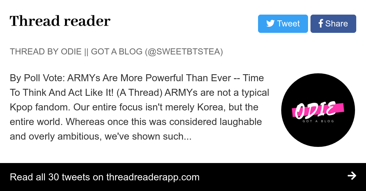 Thread by @sweetbtstea: