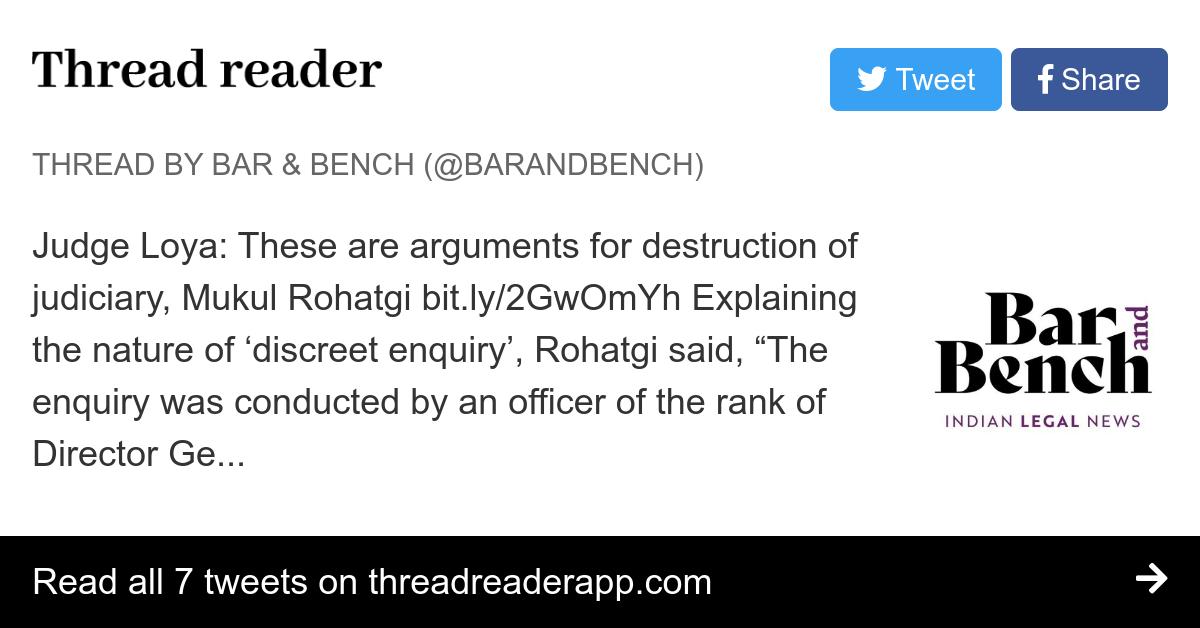 Thread by @barandbench: