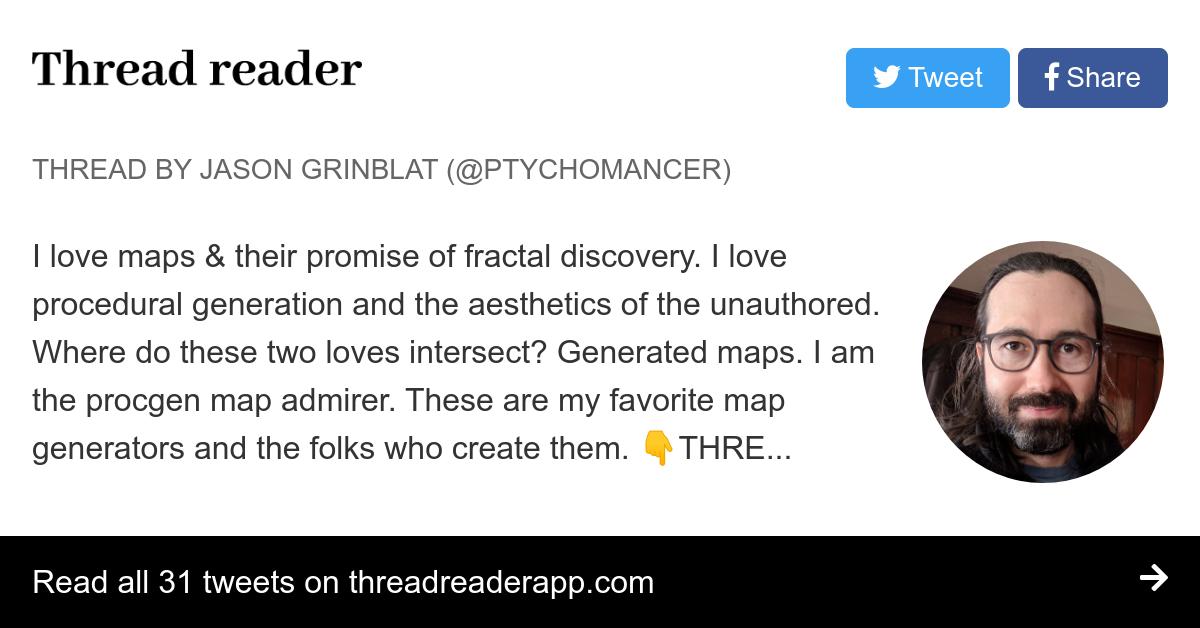 Thread by @ptychomancer: